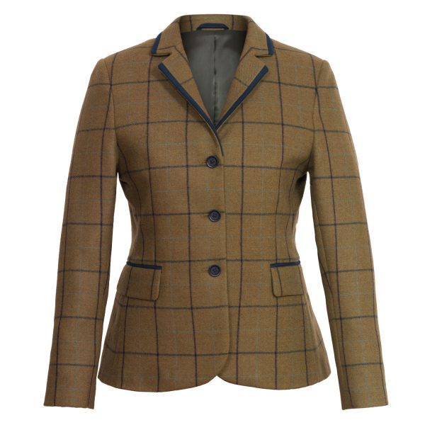 Ladies Kelso Tweed Blazer Brown 118