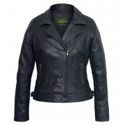 Ladies Navy leather jacket Viki