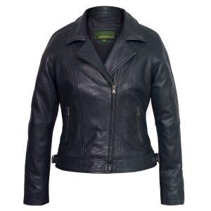 Ladies Navy leather jacket Viki