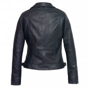 Womens Navy leather jacket viki