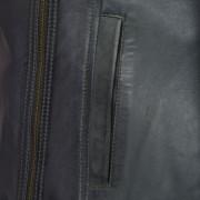 Cayla Grey leather biker jacket grey zip detail