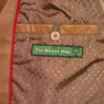 cayla tan womens leather jacket inside pocket detail