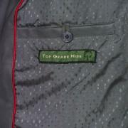 Ladies Grey leather biker jacket inside pocket detail cayla
