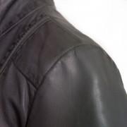 Ladies Grey leather jacket May shoulder image