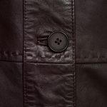 Ladies Maggie Burgundy leather jacket button detail