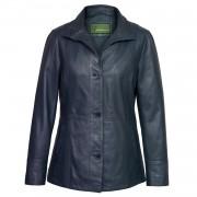 Ladies Navy Leather jacket Maggie
