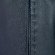 Ladies Navy leather jacket Maggie stitch detail