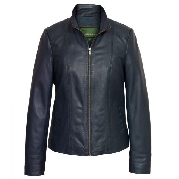 Ladies Navy leather jacket May