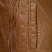 ladies tan leather jacket cayla zip detail