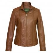 Ladies Tan leather jacket May