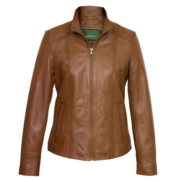 Ladies Tan leather jacket May