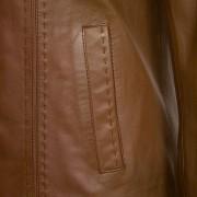 Ladies Tan leather jacket May pocket detail