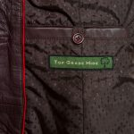 Ladies burgundy leather jacket Maggie inside pocket detail