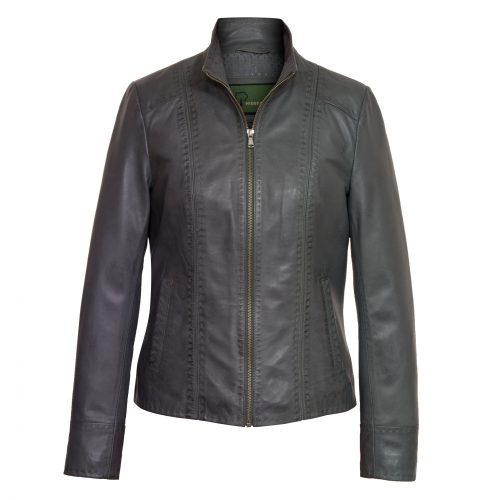 Womens Grey leather jacket May