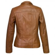 womens tan leather jacket cayla