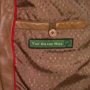 Womens Tan leather jacket May inside pocket