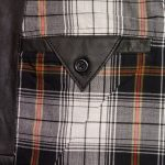 gents black waistcoat inside button fasten pocket