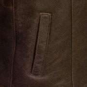 ladies brown sheepskin flying jacket gilliant pocket detail