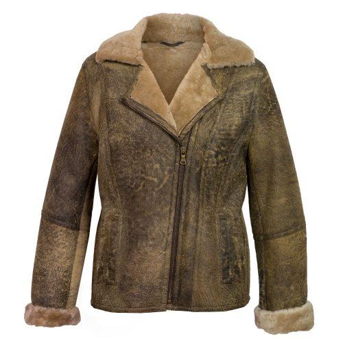 ladies sheepskin flying jacket apache