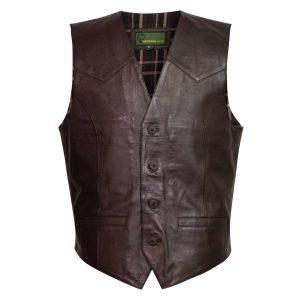 mens brown waistcoat