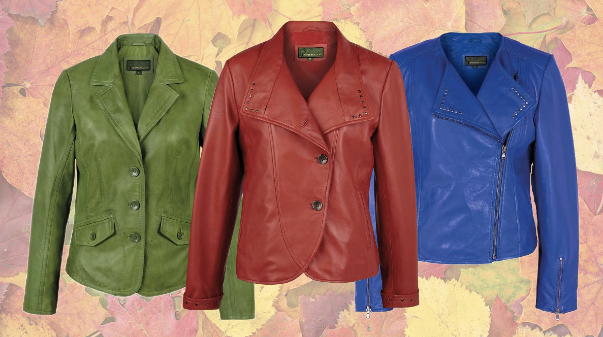 Three Colourful Leather Jackets