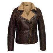 womens ladies sheepskin flying jacket