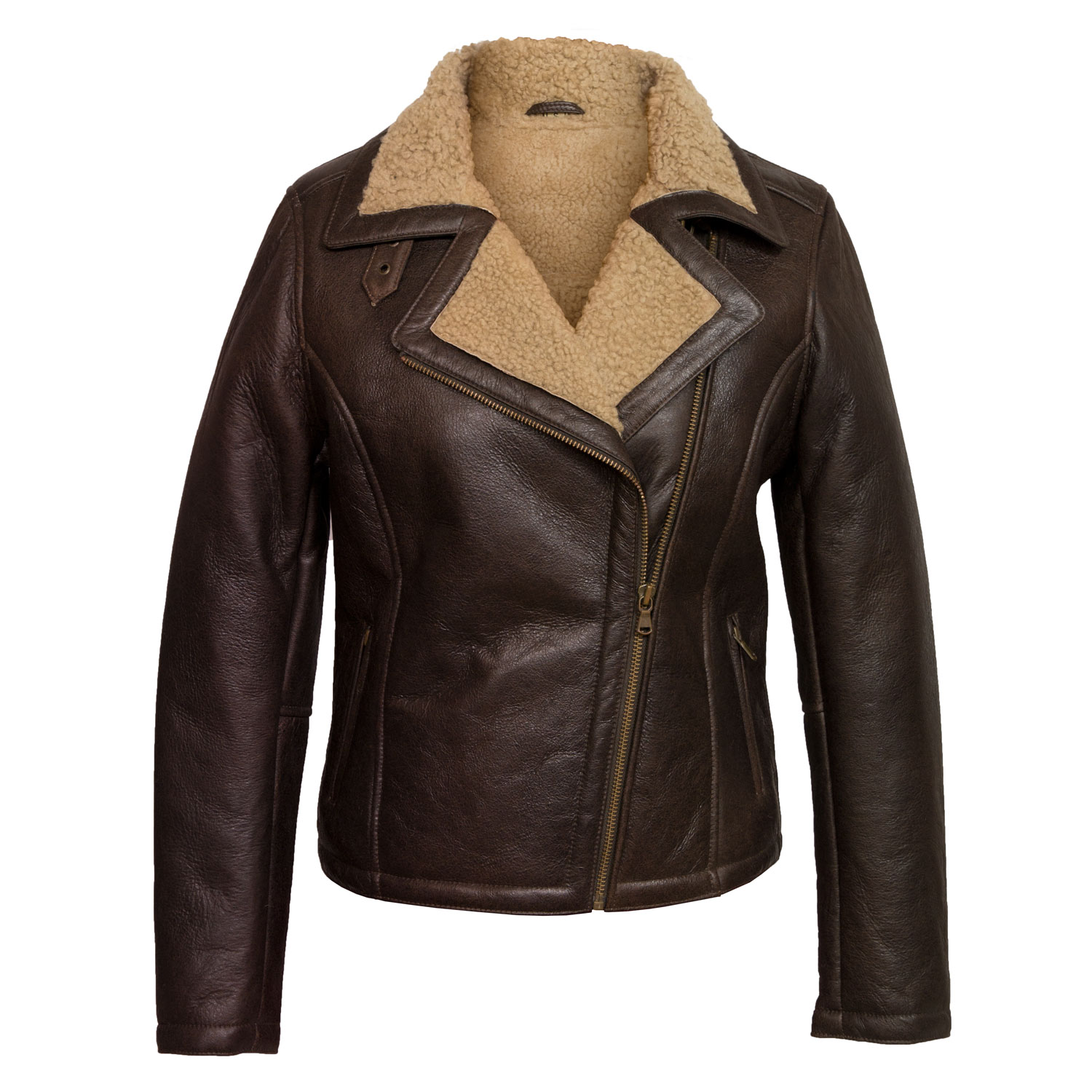 womens sheepskin flying jacket antique amy