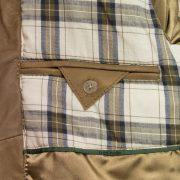 leather blouson jacket camel button fasten inside pocket