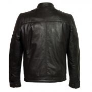 gents black leather jacket budd