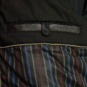 gents black leather jacket budd inside pocket