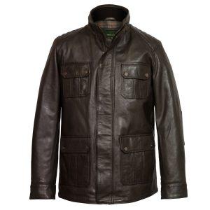 gents brown leather jacket brett