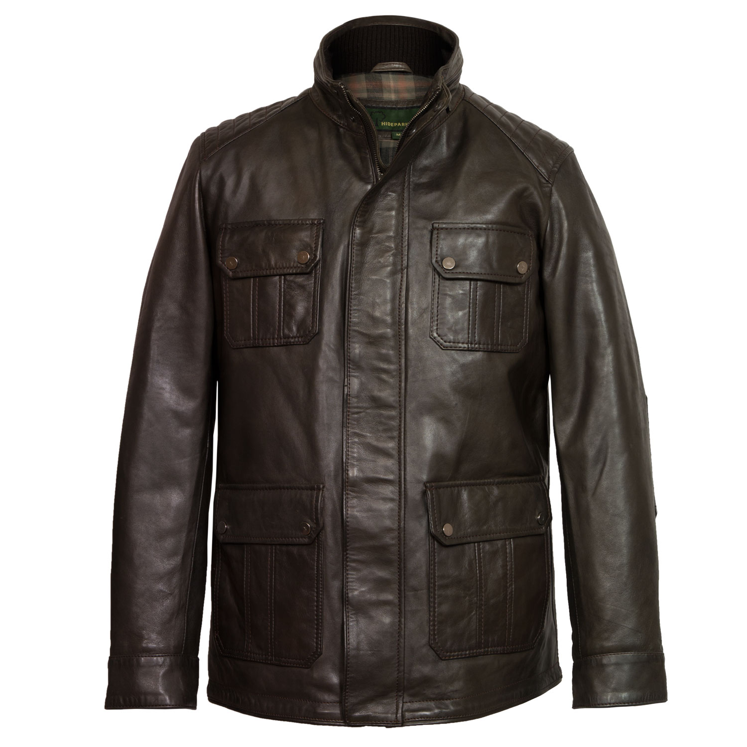 gents brown leather jacket brett