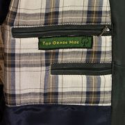mens  grey leather blouson inside pocket detail