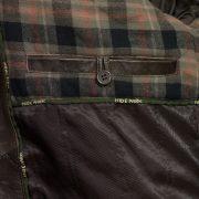 mens brett brown leather coat inside pocket