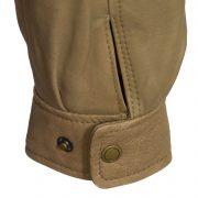 mens leather blouson jacket stud fasten cuff