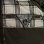 rik mens loden leather jacket inside pocket
