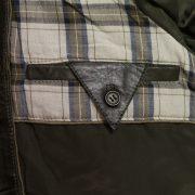 rik mens loden leather jacket inside pocket