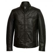 Men's Black Leather Jacket: Rik