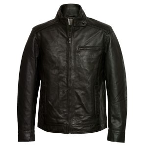 Men's Black Leather Jacket: Rik