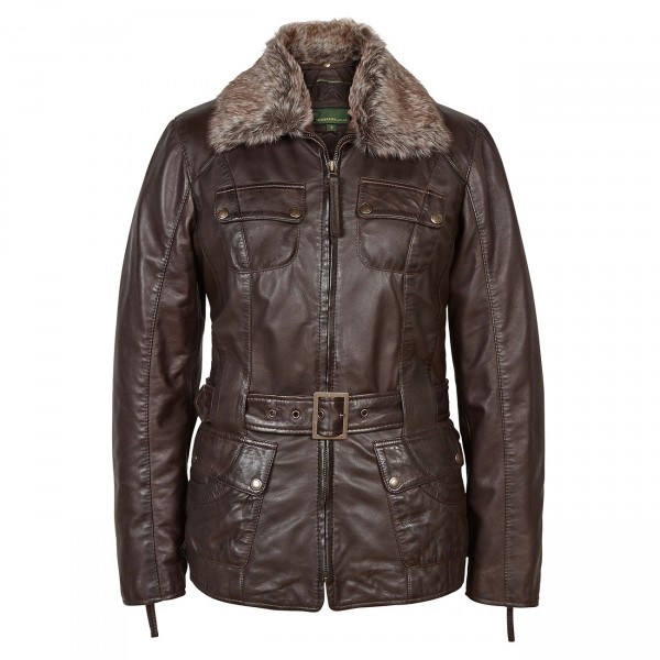 Ladies-Leather-flying-jacket-Brown-Lara-600×600