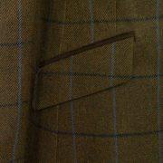 Ladies Brown tweed coat pocket detail lomond brown