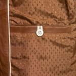 Ladies May leather jacket inside pocket cognac