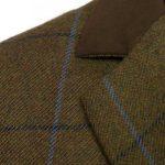 Ladies Tweed coat Lomond Brown collar detail