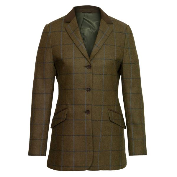 Ladies brown tweed blazer lomond
