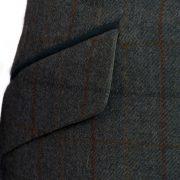 Lomond Blue tweed blazer pocket detail