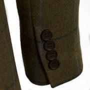 Womens Brown tweed blazer lomond cuff detail