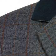 Womens Lomond Tweed blazer contrast collar detail