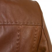 Womens cognac ladies leather jacket shoulder detail
