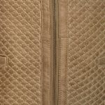 Anna Sand quilted ladies leather jacket zip detail