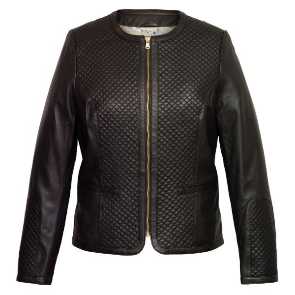 Ladies Anna Black quilted jacket